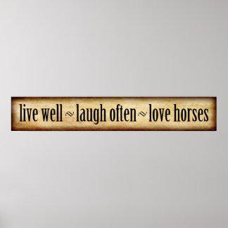 Live, Laugh, Love - Horses Poster