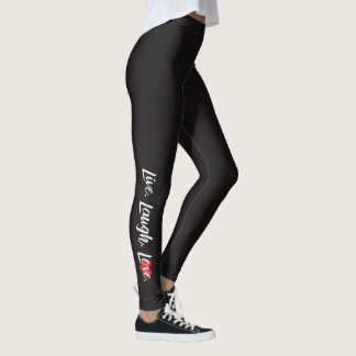"""Live, Laugh, Love"" Leggings"