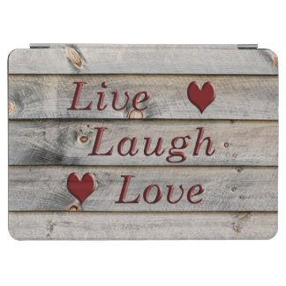 Live Laugh Love on the side of a barn iPad Air Cover