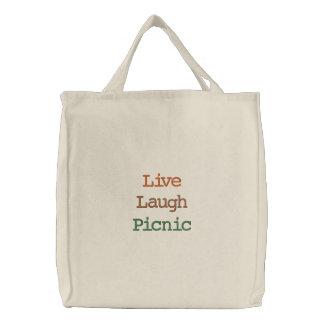 Live Laugh Picnic Tote