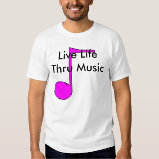 \Live Life Thru Music ladies Tee Shirt