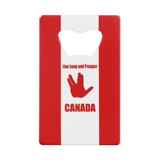 Live Long Canada Credit Card Bottle Opener