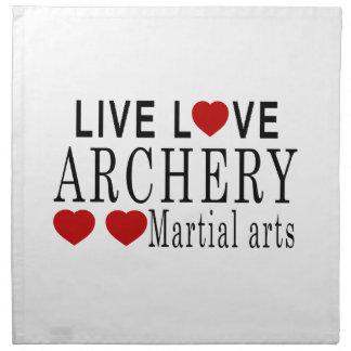 LIVE LOVE ARCHERY MARTIAL ARTS NAPKIN