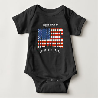Live Love Rowing USA Baby Bodysuit