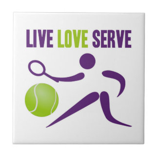 Live. Love. Serve. Small Square Tile