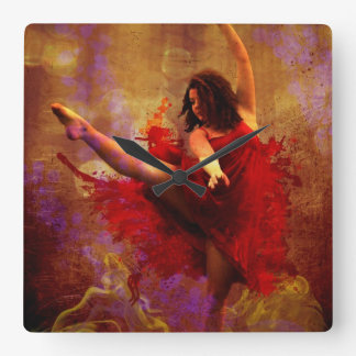 Live More / Dance More  Wall Clock