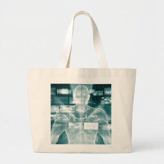 Live Streaming Content Entertainment with Audience Large Tote Bag