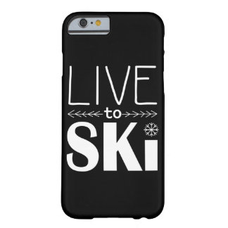 Live to Ski phone case (basic) - black