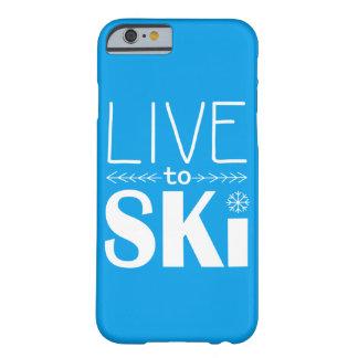 Live to Ski phone case (basic) - blue