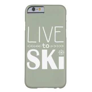 Live to Ski phone case (basic) - olive