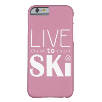 Live to Ski phone case (basic) - pink