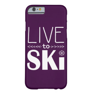 Live to Ski phone case (basic) - plum