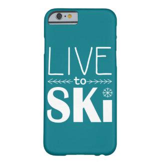 Live to Ski phone case (basic) - teal
