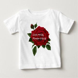 Live Wild Flower Child Rose Baby T-Shirt
