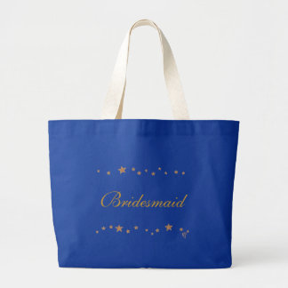 Lively Gold stars border, Bridesmaid canvas bags