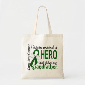 Liver Cancer Heaven Needed a Hero Grandfather Budget Tote Bag