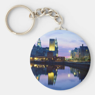 Liverpool at night, England Key Ring