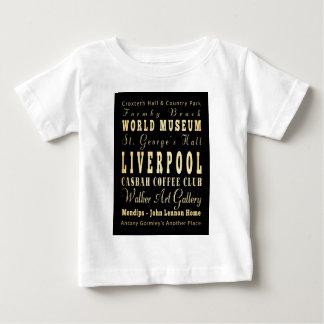 Liverpool City of United Kingdom Typography Art Tshirts