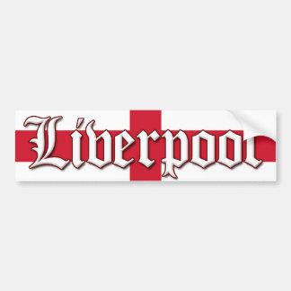 Liverpool England Flag Bumper Sticker