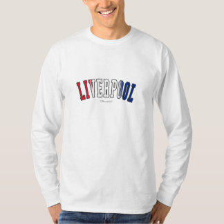 Liverpool in United Kingdom national flag colors T-Shirt
