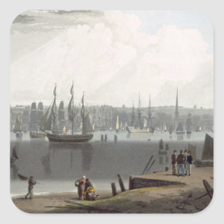 Liverpool, taken from the opposite side of the riv square sticker