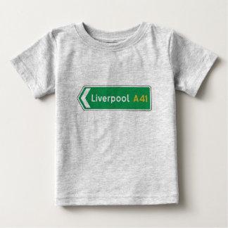 Liverpool, UK Road Sign Tshirt