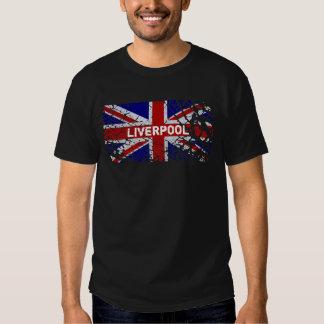 Liverpool Vintage Peeling Paint Union Jack Flag T Shirts