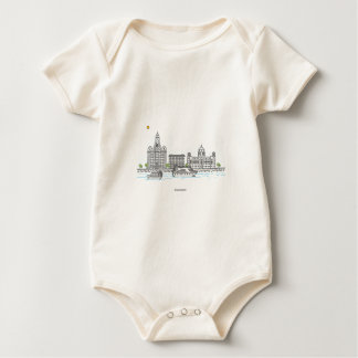 Liverpool Waterfront Baby Bodysuit