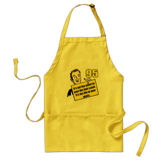 Living Life 95th Birthday Gifts Adult Apron