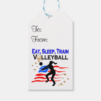 LIVING MY VOLLEYBALL DREAM DESIGN GIFT TAGS