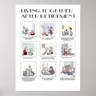 Living Together After Retirement - poster 1 Print