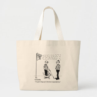 Living Up to Fan Expectations Jumbo Tote Bag