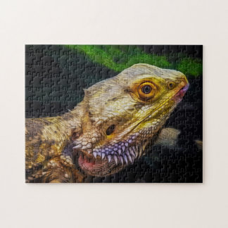 Lizard 03 Digital Art - Photo Puzzle