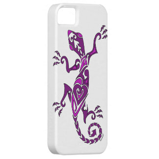 Lizard tattoo/henna in purple case for the iPhone 5