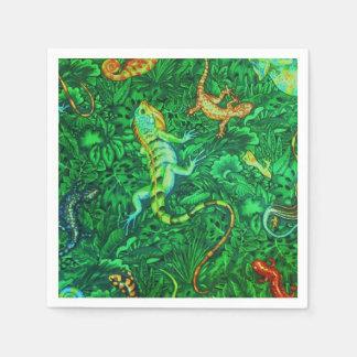 Lizards Paper Napkins