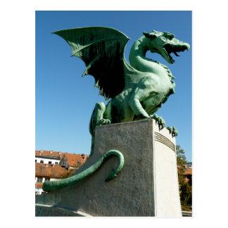 Ljubljana Dragon Postcard