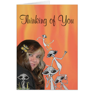 LK and her Aliens are Thinking of You Card