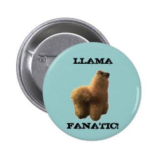Llama Fanatic 6 Cm Round Badge
