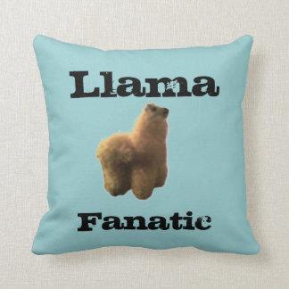 Llama Fanatic Throw Cushion