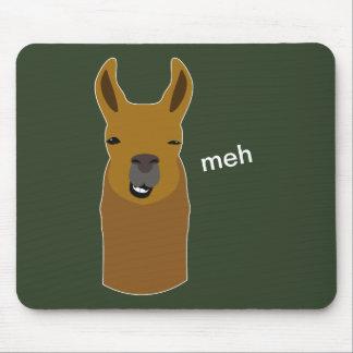Llama Funny Face Mouse Pad