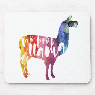 Llama. No Probllama. No Prob-llama. Funny Sayings Mouse Pad
