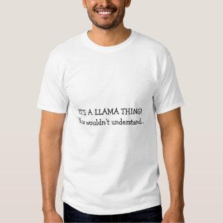 LLAMA THING T SHIRT
