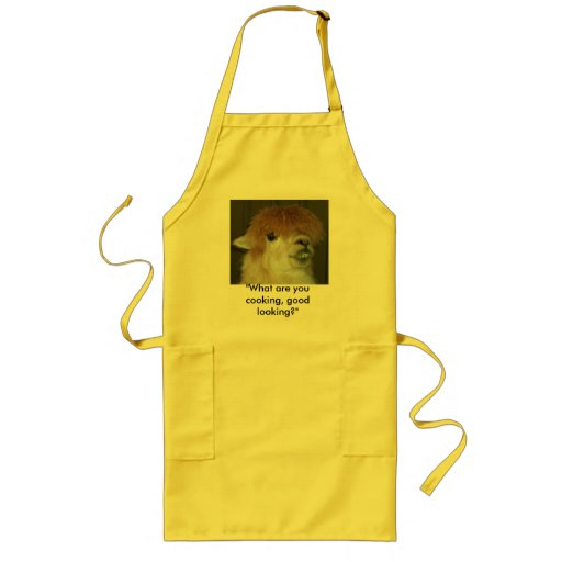 "LLama ""What are you cooking, good looking?"" Apron"