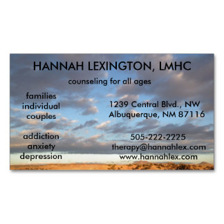 LMHC Counselor Magnet, advertising networking Magnetic Business Cards