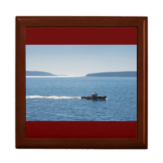 Lobster Boat And Islands Off Mount Desert Island Gift Box