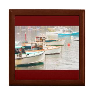 Lobster Boats In Bass Harbor, Mount Desert Island Gift Box