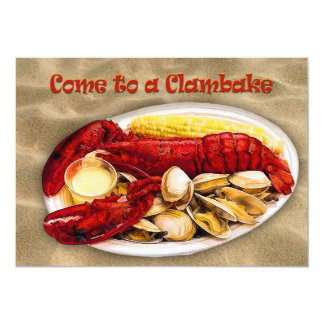 Lobster & Clams Clambake 13 Cm X 18 Cm Invitation Card
