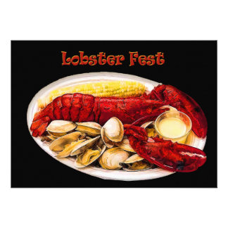 Lobster Clams Lobster Fest Personalized Announcement