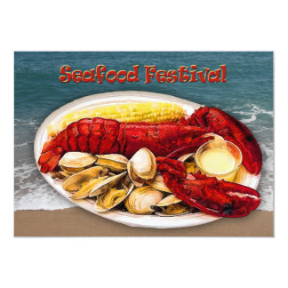 "Lobster & Clams Seafood Festival 5"" X 7"" Invitation Card"