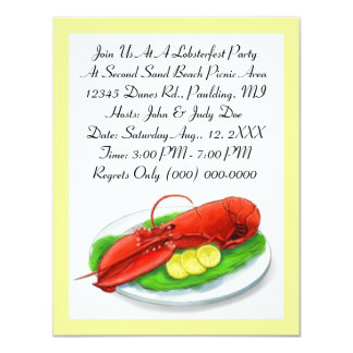 LOBSTER LOBSTERFEST BAKE BOIL PARTY INVITATION